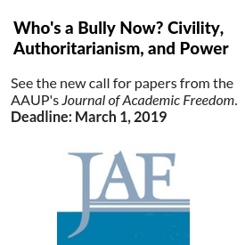 Journal of Academic Freedom with call for papers announcement