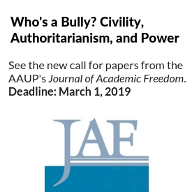 Journal of Academic Freedom logo with call for papers